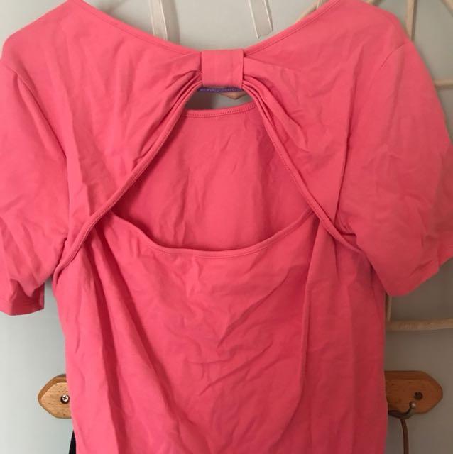 f21 pink tshirt