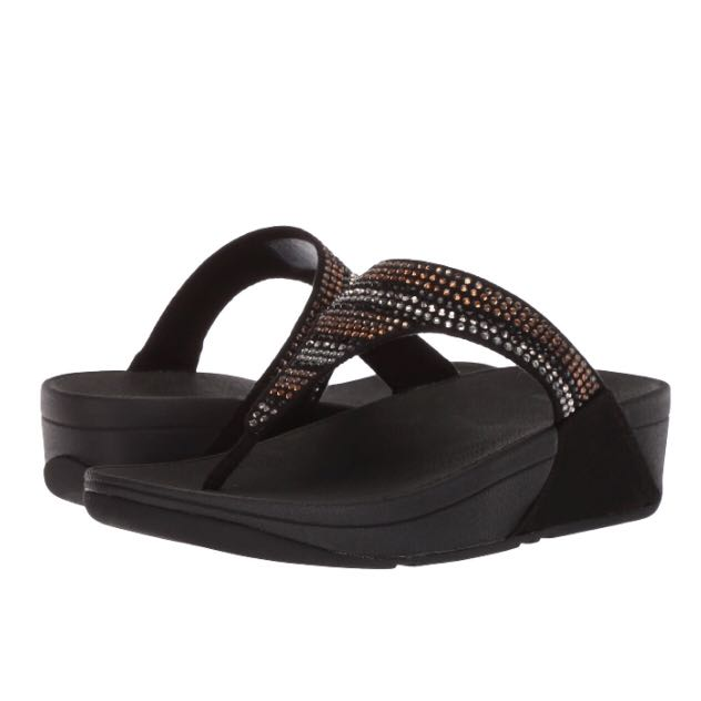 499a1307c75b5 FitFlop Strobe Luxe Toe-Thong Sandals