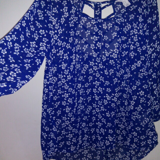 Forever 21 - Blue Floral Blouse