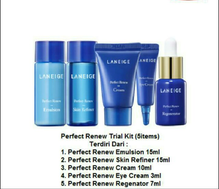 FREE ONGKIR!! LANEIGE PERFECT RENEW KIT 5ITEM