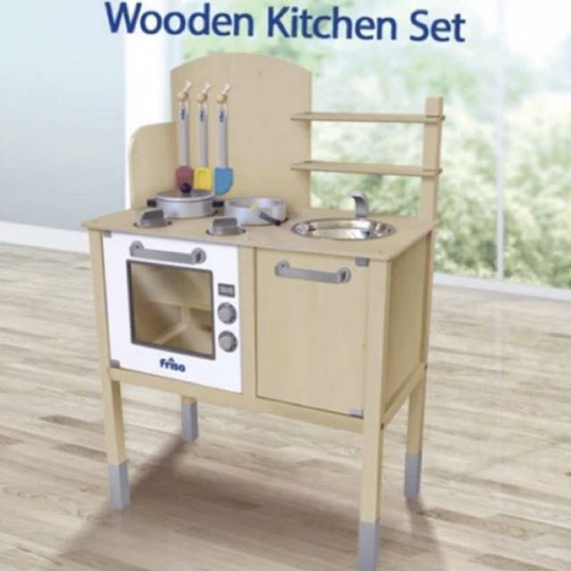 Friso Wooden Kitchen Set Babies Kids Toys Walkers On Carousell