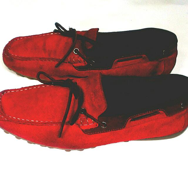 Geox Respira Boat Loafers Suede Authentic