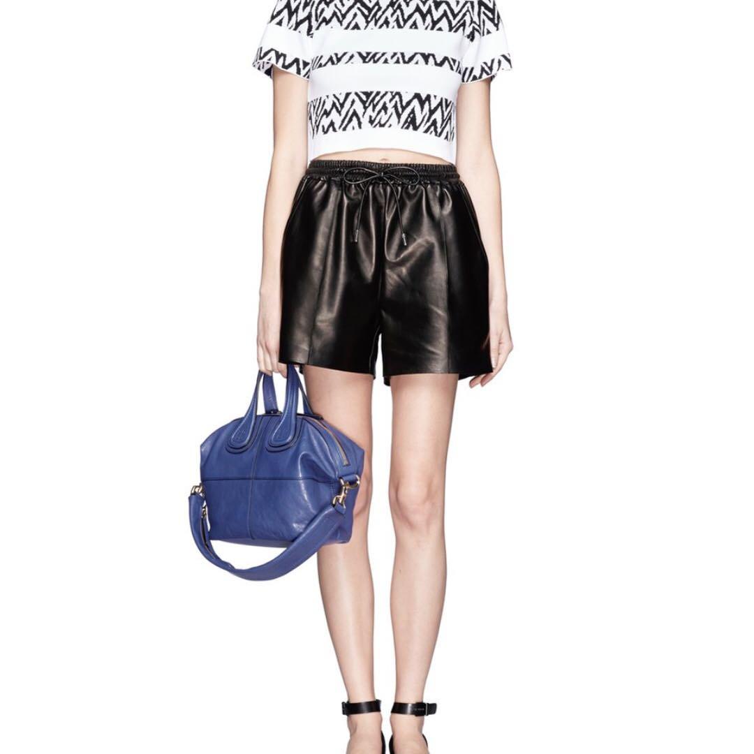 Givenchy Nightingale Small Blue Goatskin Leather Bag