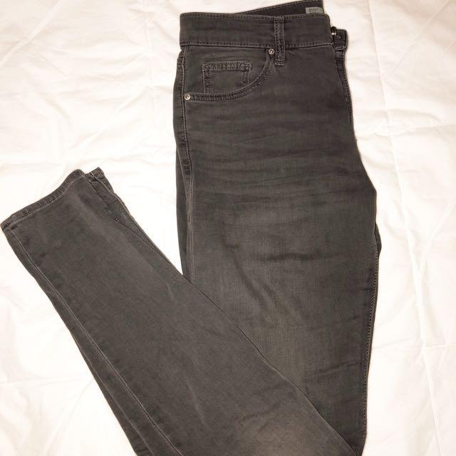 Grey TopShop Skinny Jeans