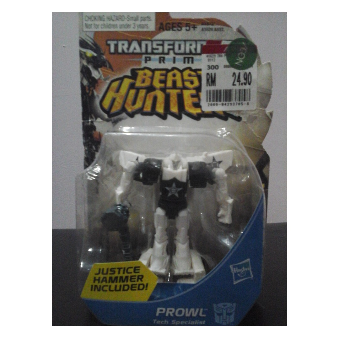 Transformers Prime Beast Hunters New In Package Prowl With Justice Hammer
