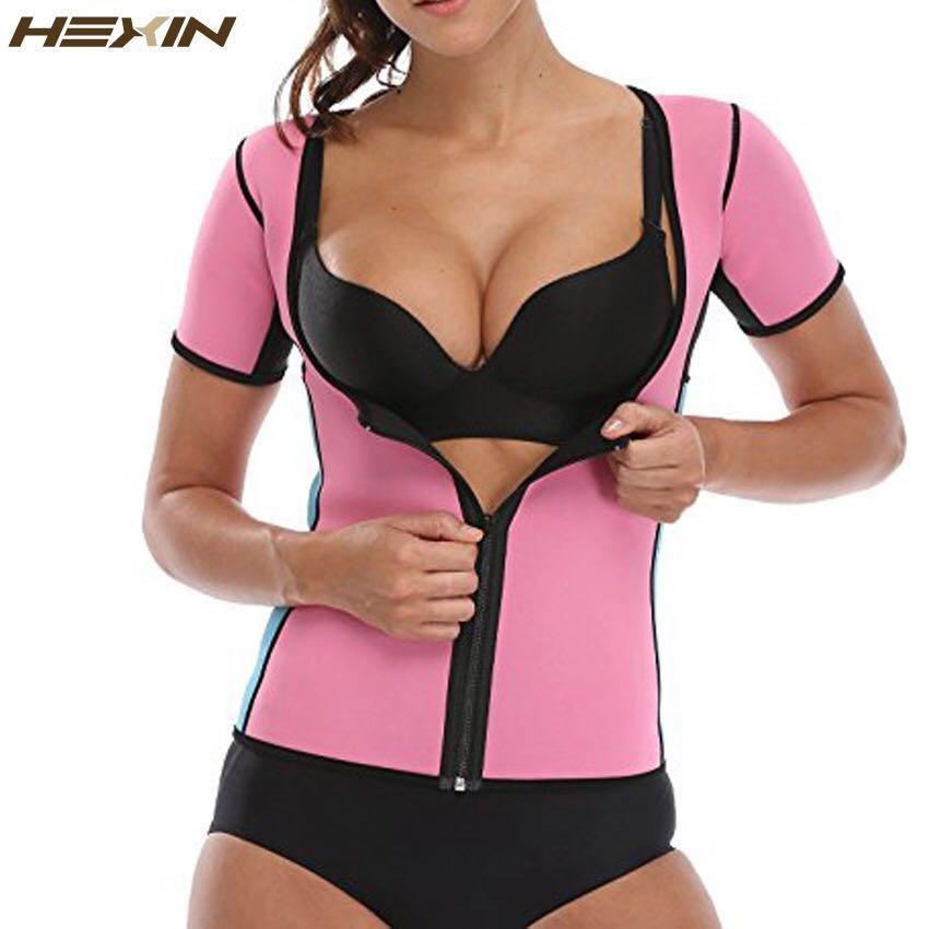 0ca542ba34 HEXIN Neoprene Slimming Hot Vest Exercise Top Sauna Suit for Weight ...