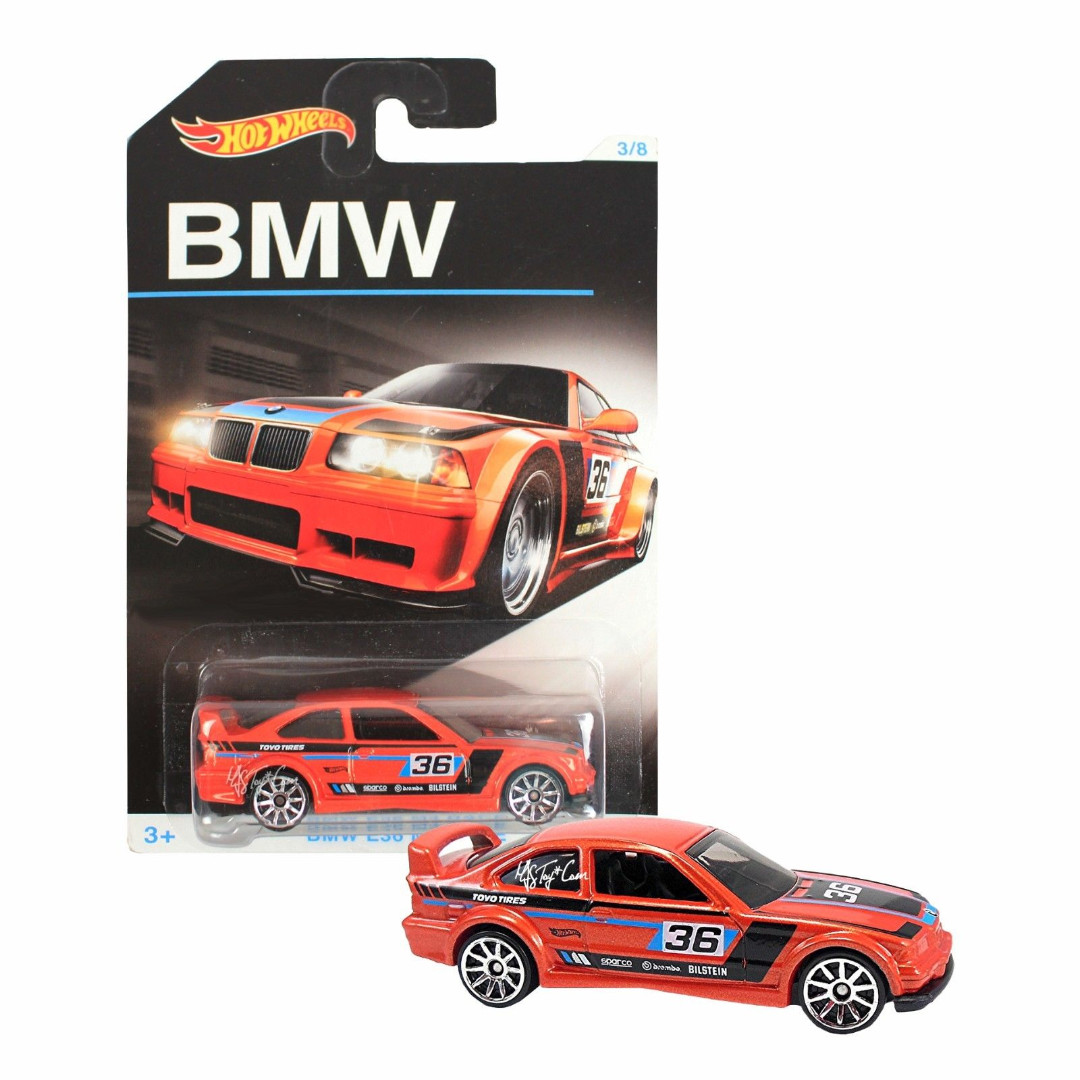 HOTWHEELS BMW ANNIVERSARY COLLECTIONS SERIES - RED E36 M3 RACE 3 - RARE