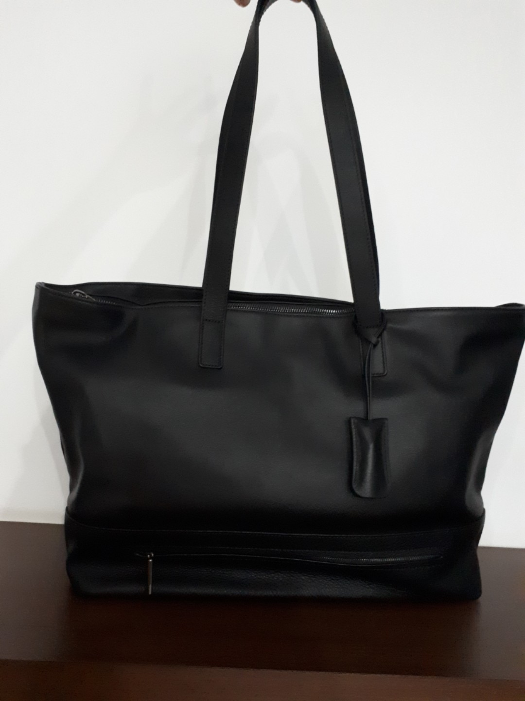 """HP 15.6"""" TECHTOTE LEATHER OFFICE BAG"""