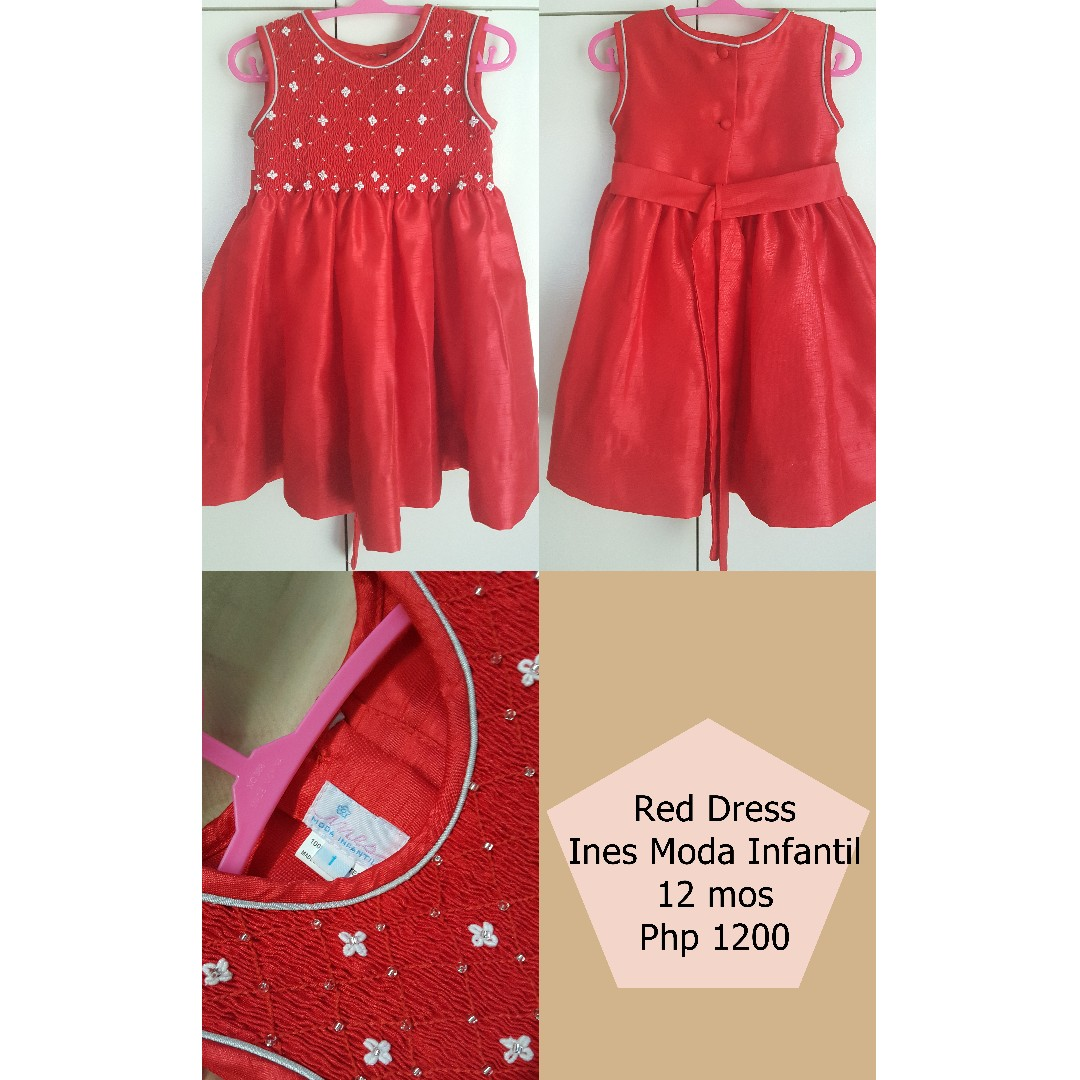 Ines Moda Infantil Red Party Dress