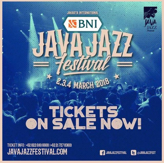 Java jazz ticket daily pass saturday ada 2 ticket