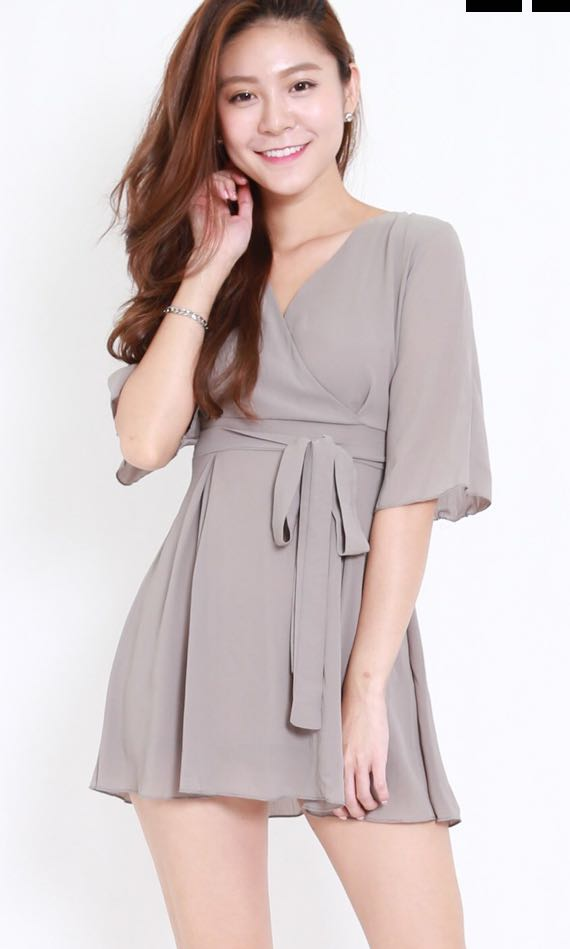 Kimono Dress in Olive Grey