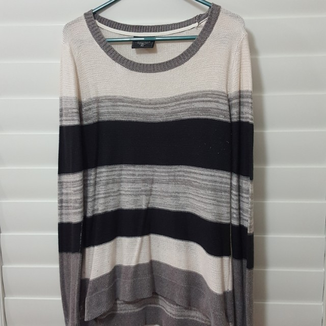 Knitted striped thin jumper
