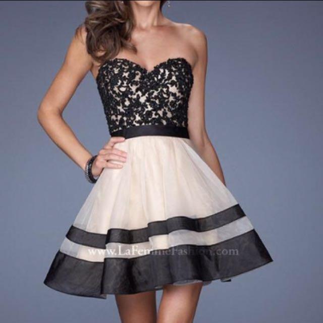 La Femme 19928 A-Line Dress