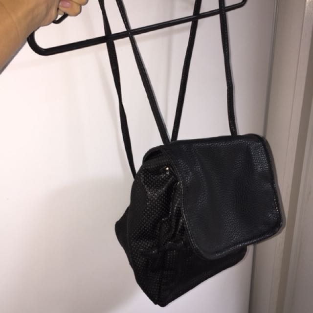 LEATHER BACK PACK SMALL