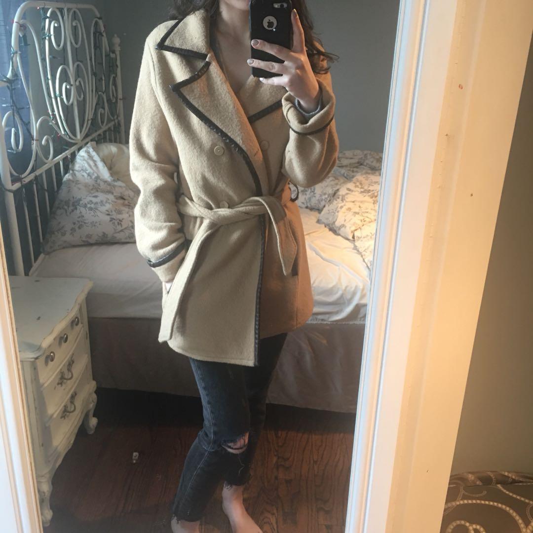 Lightweight Vintage Wool Coat