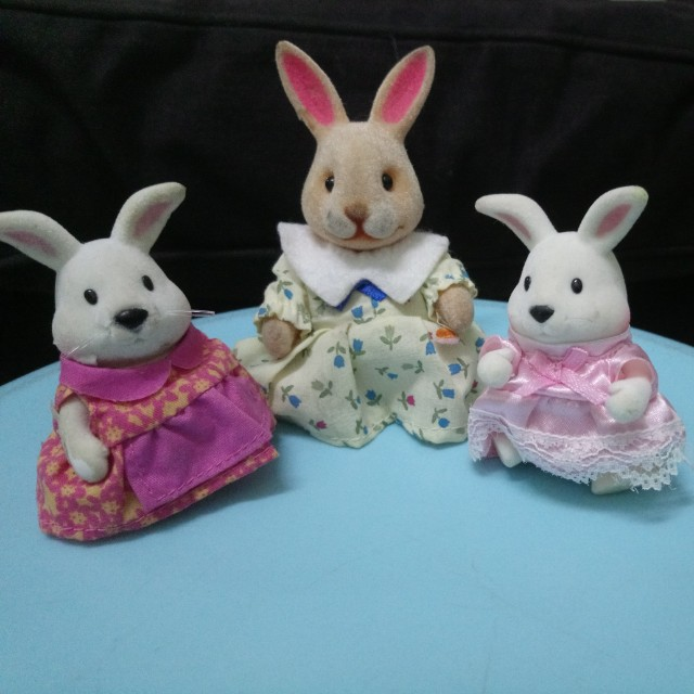 Lil Woodzeez Rabbit Family