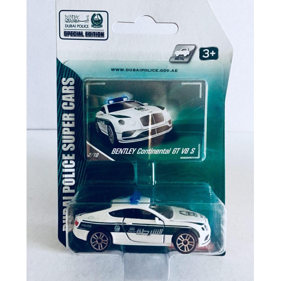 MAJORETTE DUBAI POLICE SUPER CAR SPECIAL EDITION - BENTLEY CONTINENTAL GT V8 S - RARE