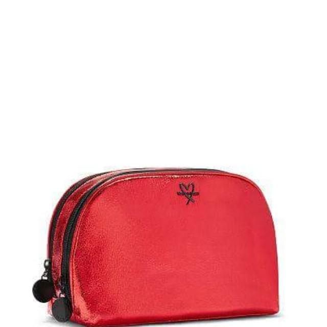 Metallic Crackle Glam Bag (Red)
