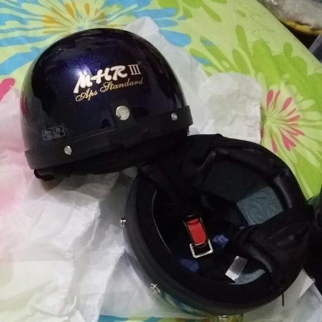Mhr Claasic III Helmet Aps Standard Half Cap Blue Purple