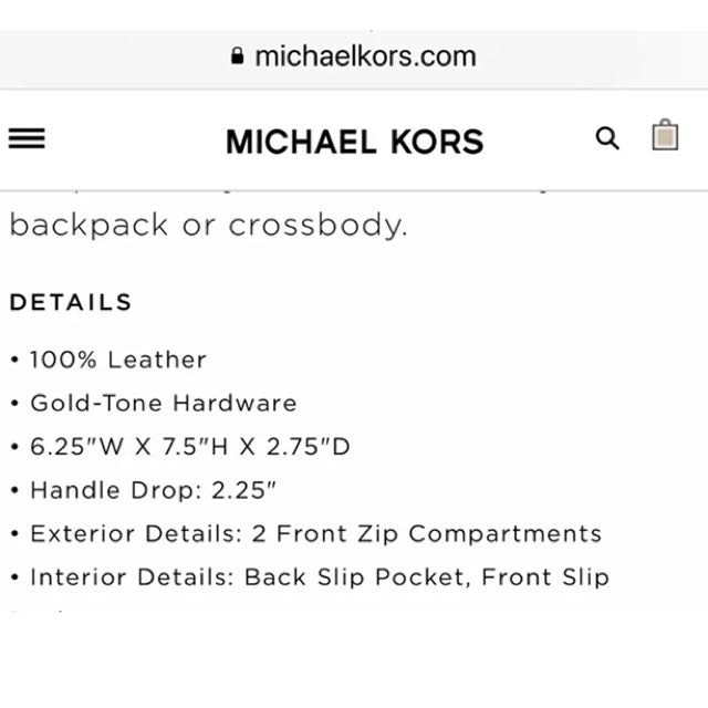 Michael Kors backpack or crossbody
