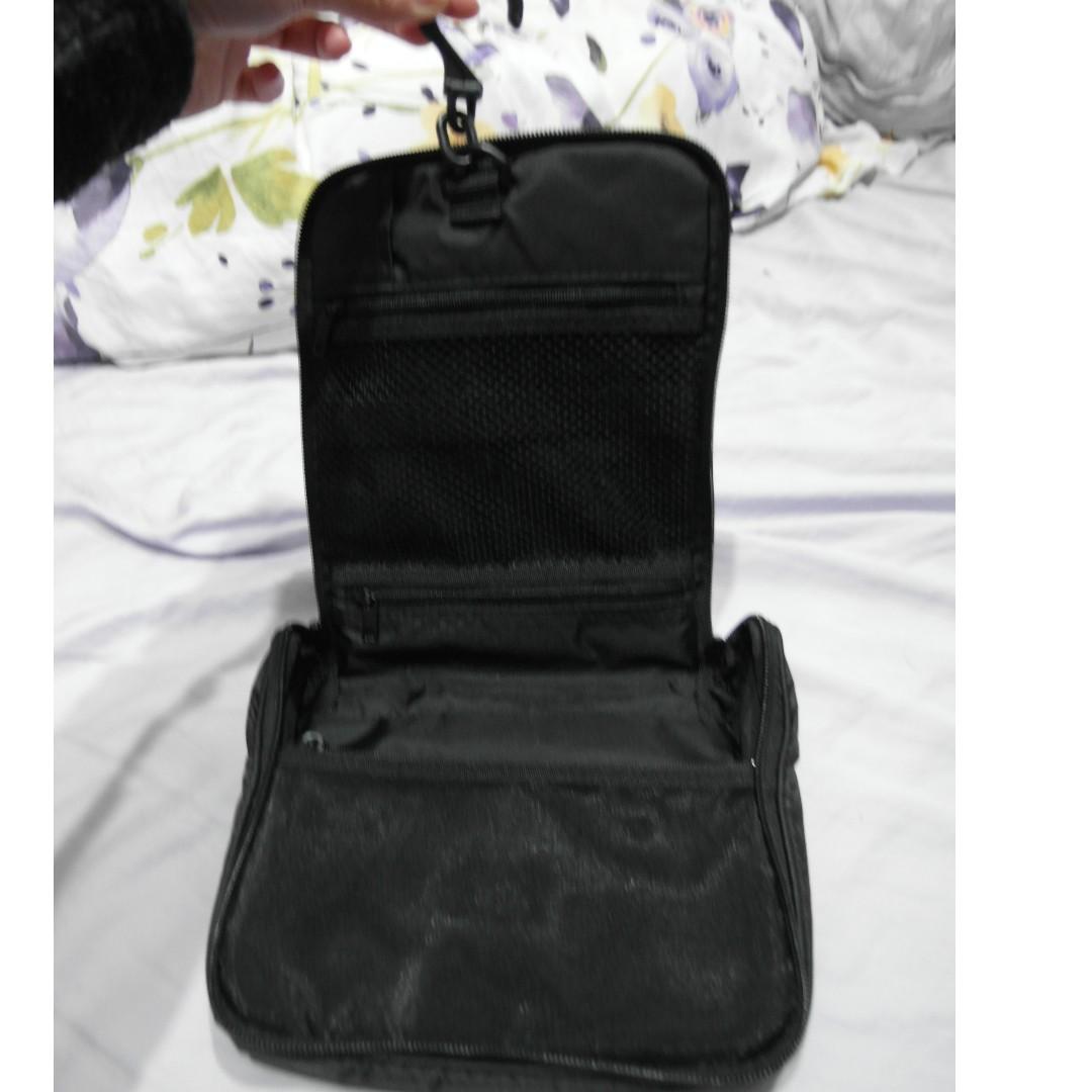MUJI 無印良品 聚酯吊掛盒型收納包 旅行盥洗收納包/尼龍材質吊掛盒型收納包