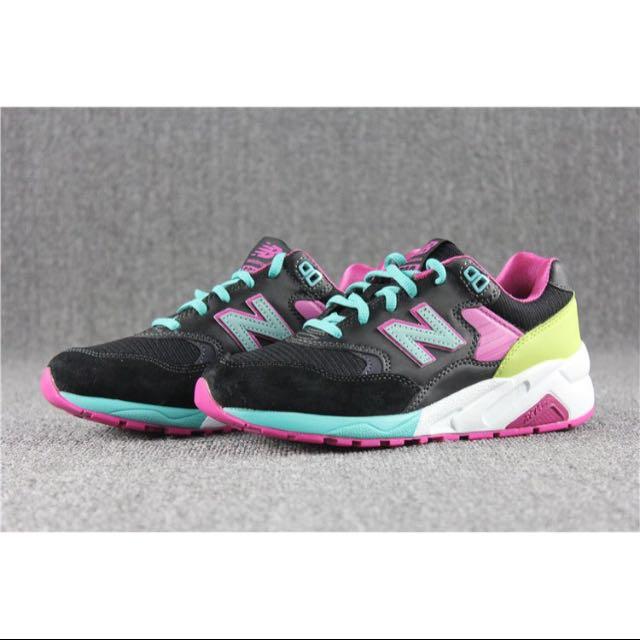 NEW BALANCE 580 黑桃配色 輕量慢跑鞋