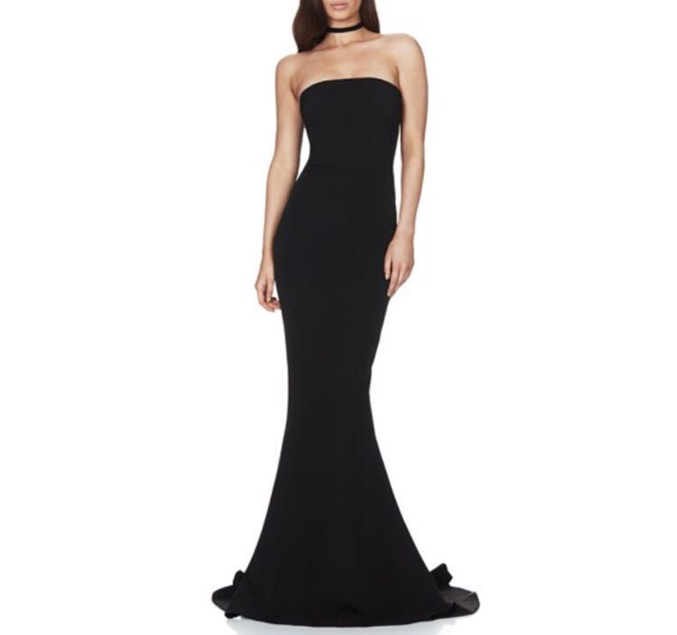 Nookie Angelina gown (black, size S)