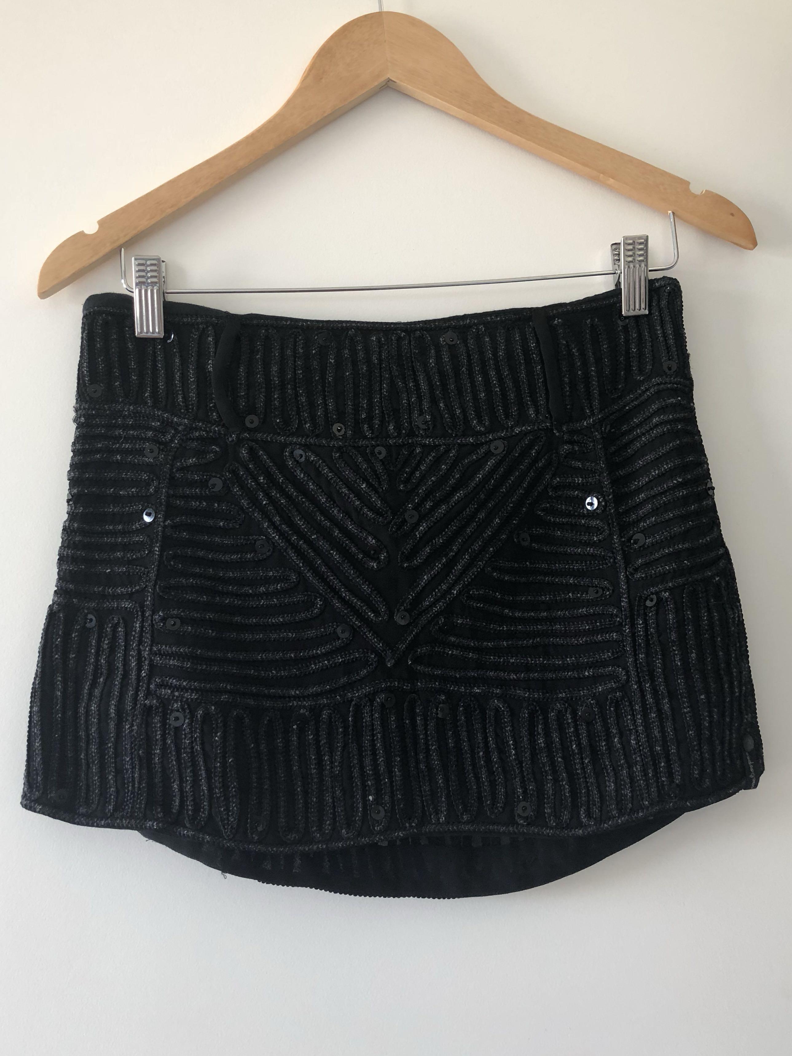 One Teaspoon Sequin Mini Skirt Size XS