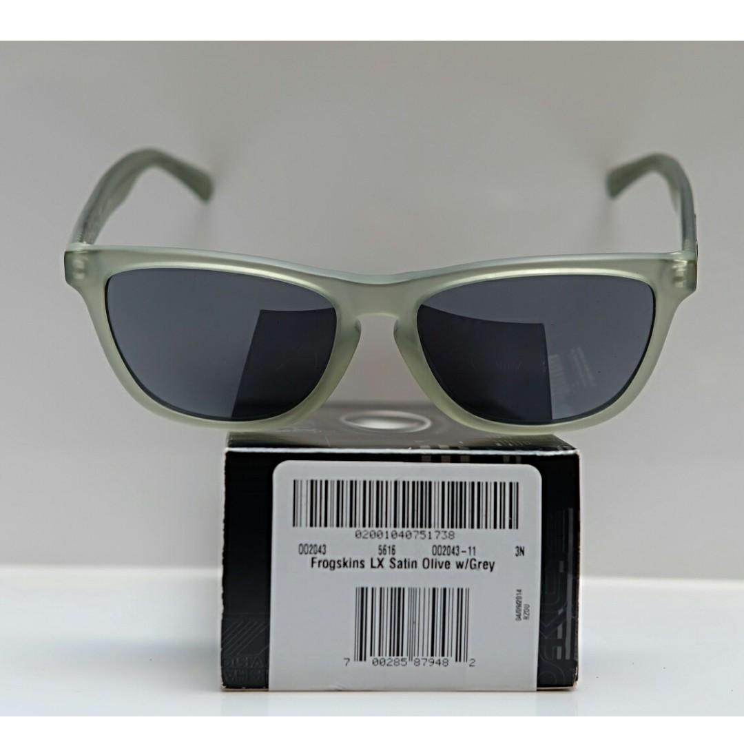 Original kacamata Oakley Frogskins LX satin olive lensa grey b3095457d5