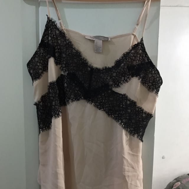 Preloved F21 Nude Lace Top