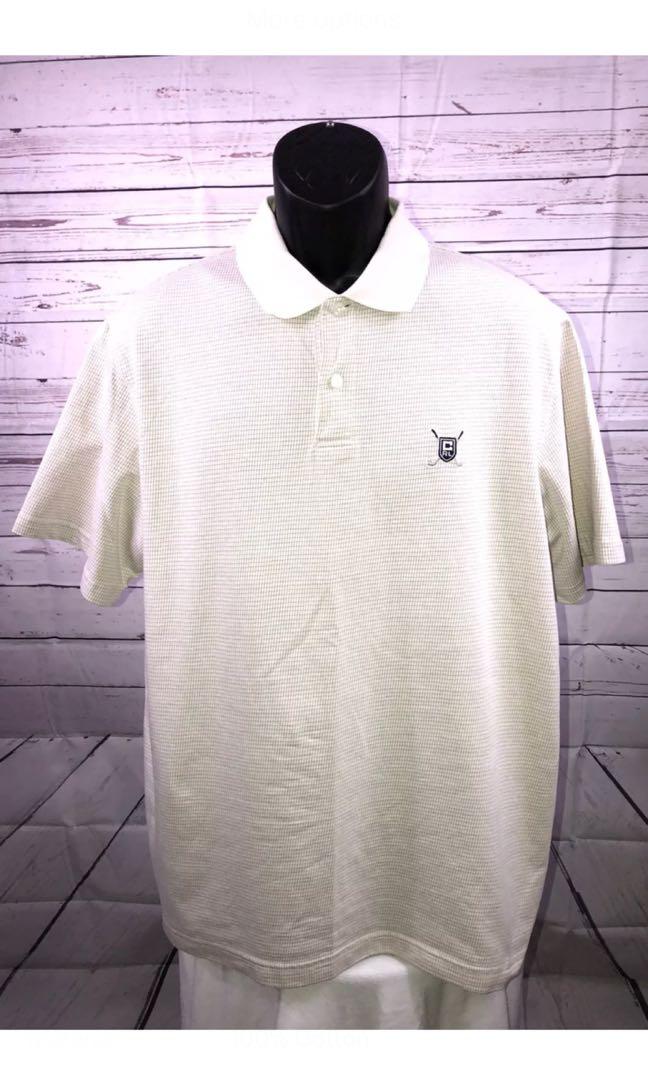 Ralph Lauren Chaps Golf Polo shirt - Beige Short Sleeve Collar
