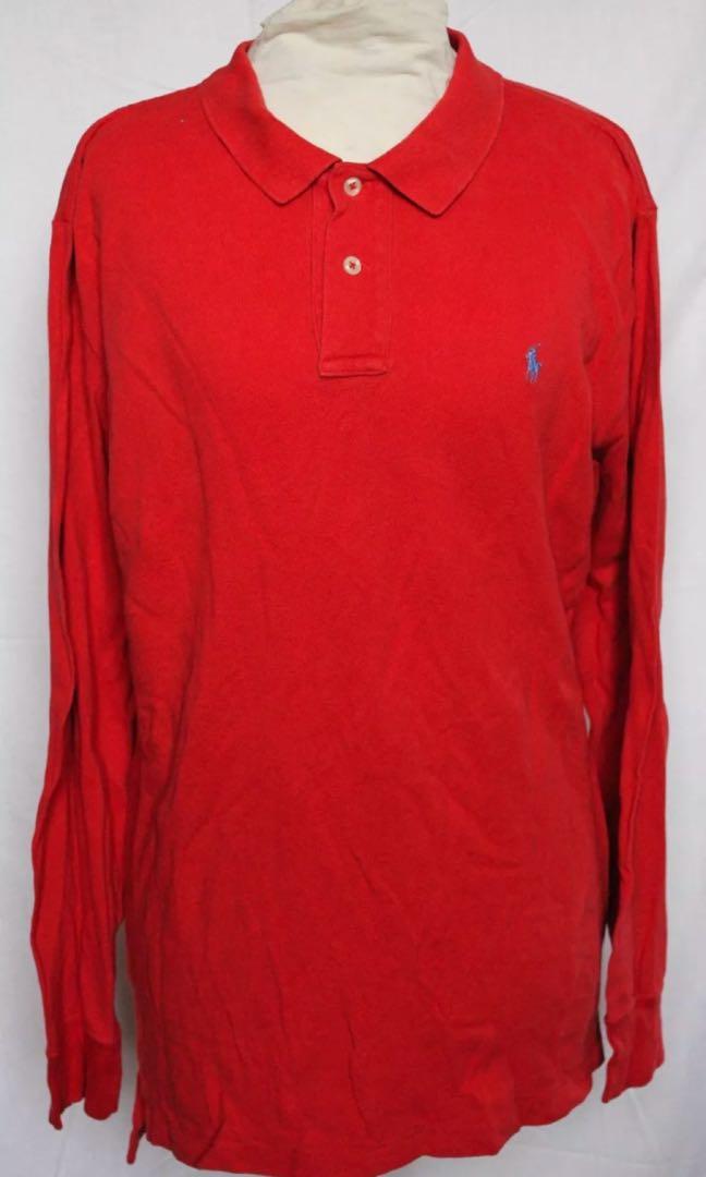Ralph Lauren Red Long Sleeve Polo