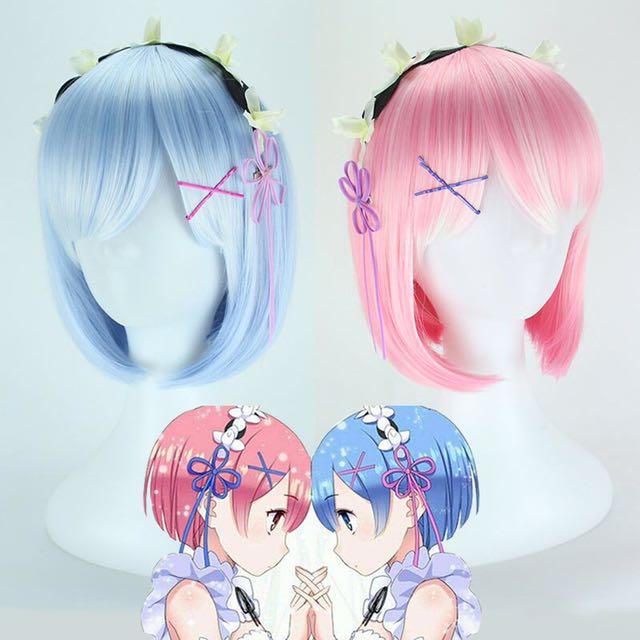 Re:Zero Rem & Ram Cosplay Hair Wig (PO)