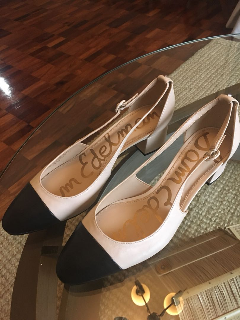 65b4a98c53d Sam Edelman Leah cap toe pumps on Carousell