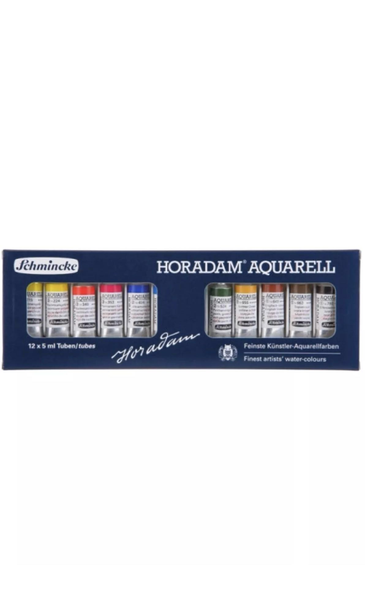 Schmincke Horadam Artist watercolor 12x5ml tube set FREE SHIPPING