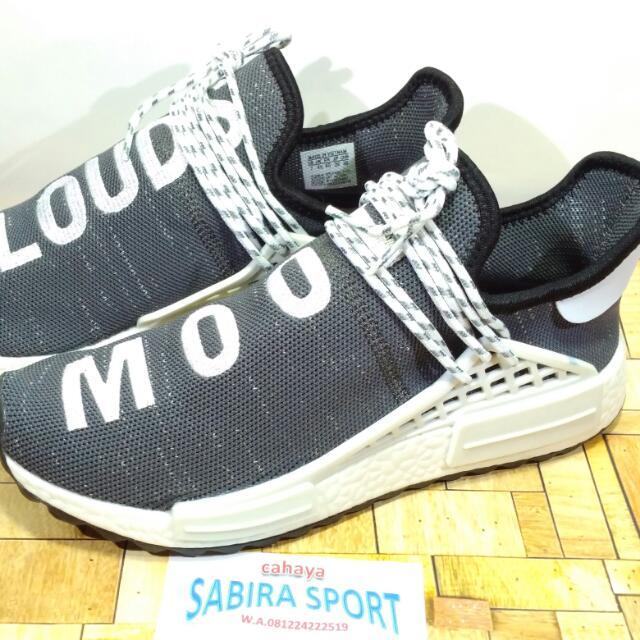 e8781f86a Sepatu Adidas NMD HU TR X Pharell Williams Cloud Mood GreyWhite ...