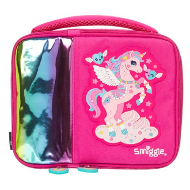 SMIGGLE SALE unicorn double square lunchbox - pink