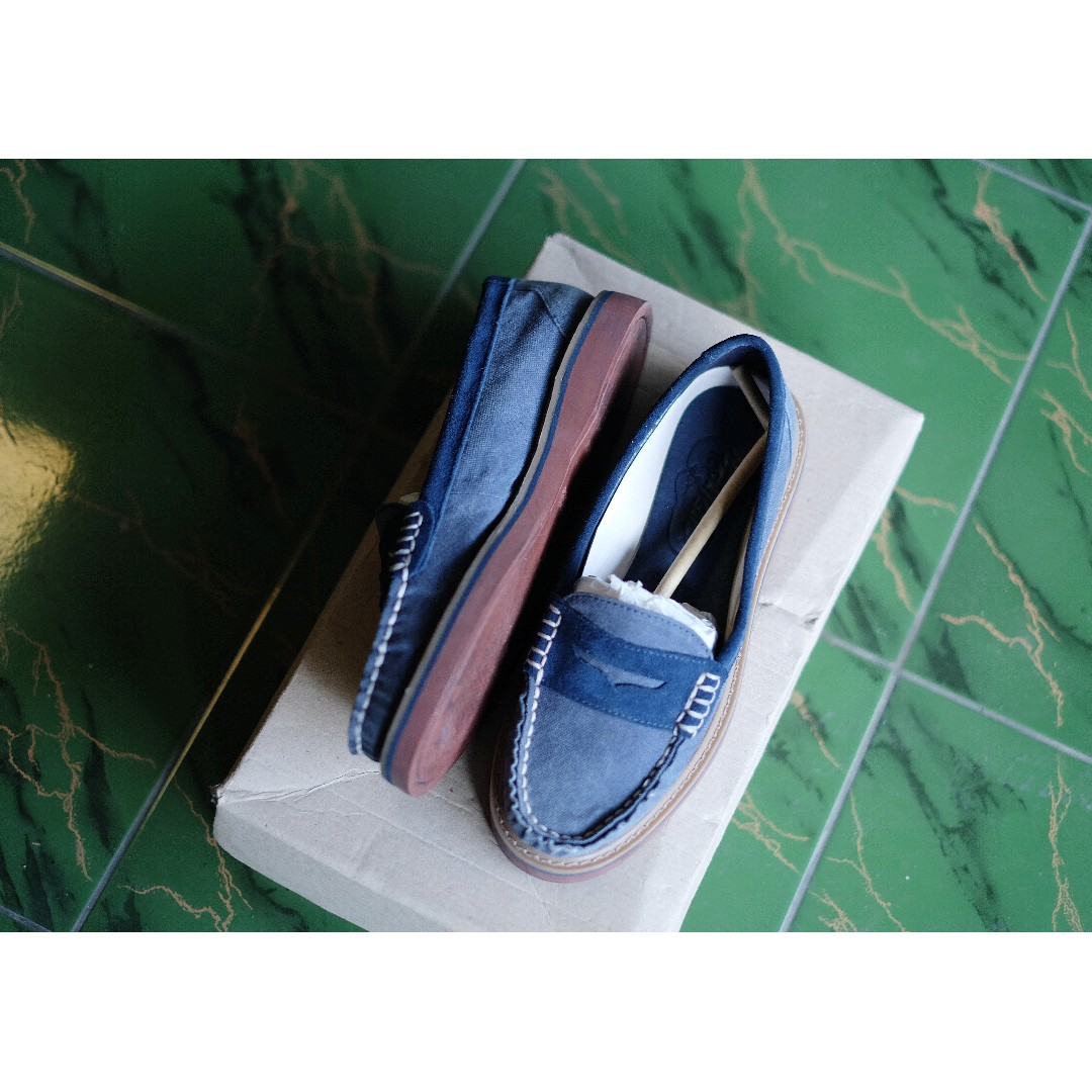 Sperry Top Sider Womens Welted Penny Blue Fesyen Wanita Sepatu Di Carousell