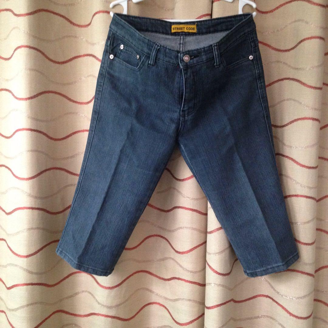 Maong Capri (Tokong) Pants by Street Code (Size 31)