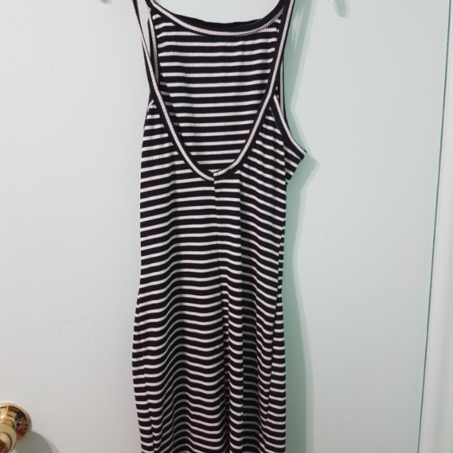 Striped Dress with Slits