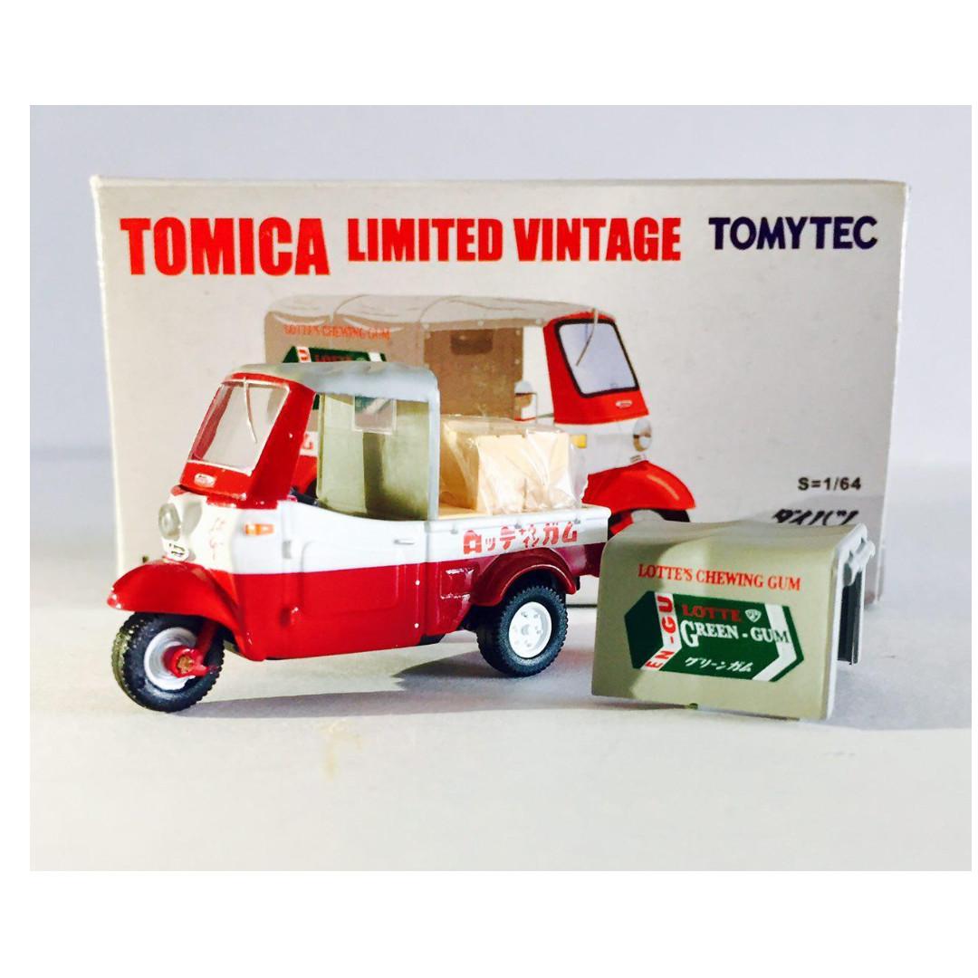 TOMYTEC TOMICA LIMITED VINTAGE LV-143b DAIHATSU MIDGET ( RED ) - RARE