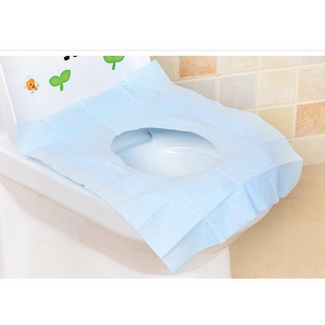 Travel out of disposable toilet seat
