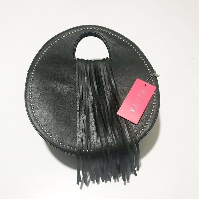 VIETA Round handbag with Tassle accent