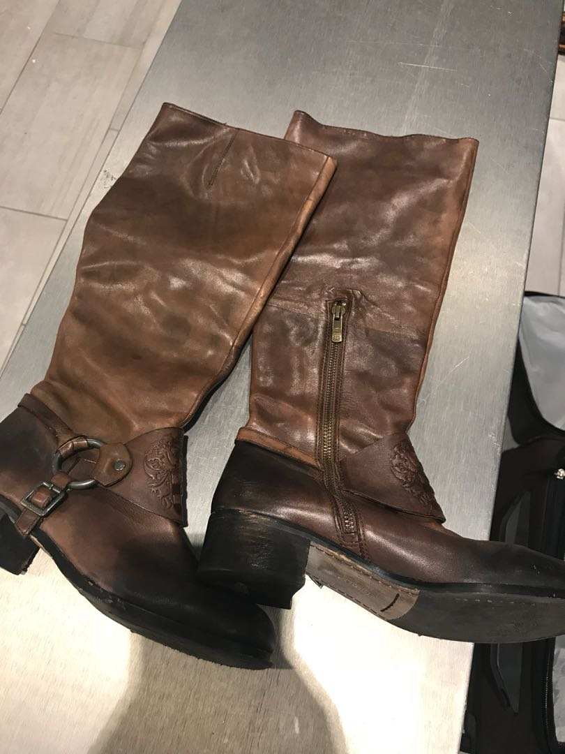 Vince Camuto rustic brown boot