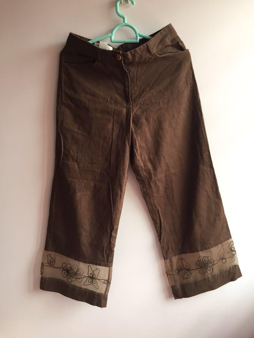 vintage culottes w/ see-through hem #BAJET20