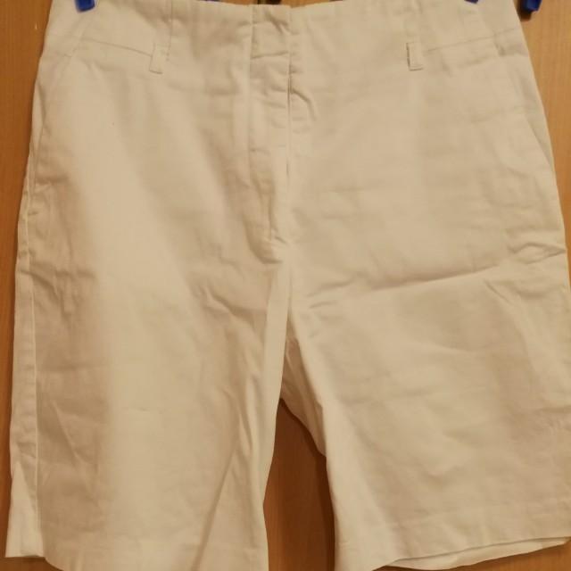 White Long Shorts