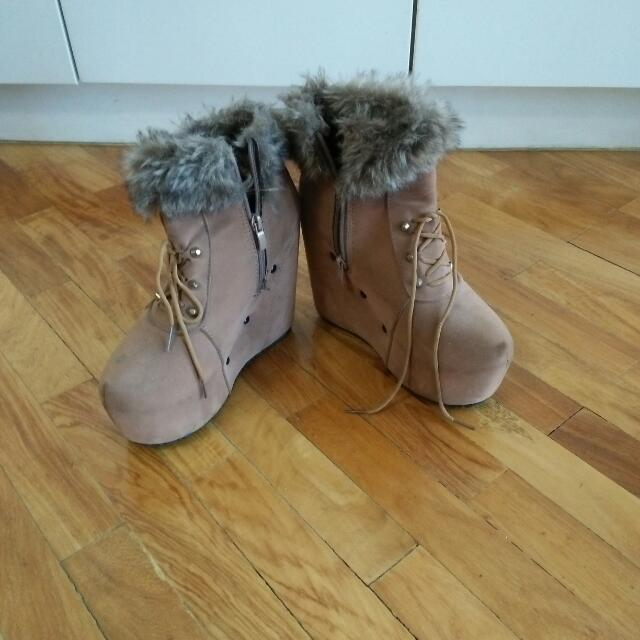 Winter Wedge Shoes