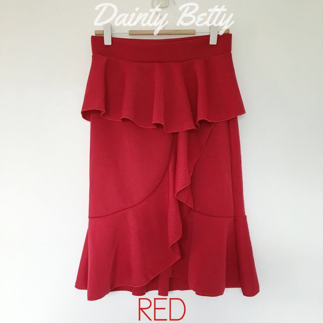 Women's ruffled skirts