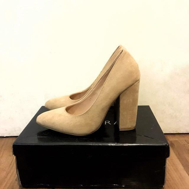 Zalora Nude Block Heels