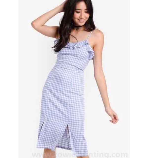 Zalora pastel checkered dress
